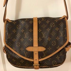 Louis Vuitton monogram canvas saumur messenger bag